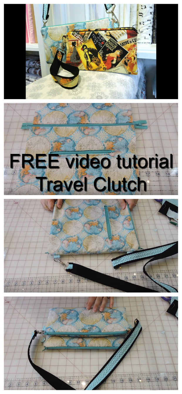 If you want to make your very own travel clutch then why not watch this quick and easy video. You will learn how to sew an excellent travel clutch that you store your travel documents and possibly your passport. You can make this clutch in any fabric you want and can use it for a variety of purposes, not just as a travel clutch.