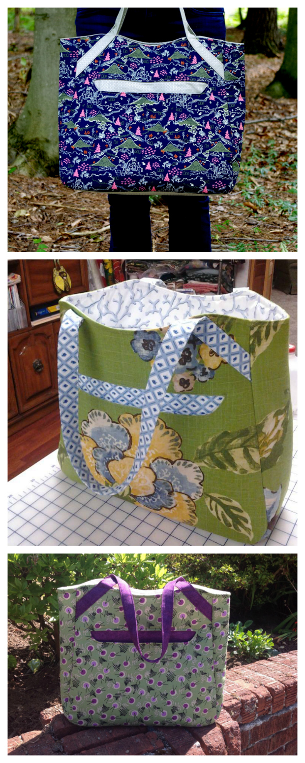 We've found another FREE pdf pattern which we think you will love, it's called the Alice Shopper Tote. Alice is an easy-to-sew large tote bag featuring an exterior open pocket with magnetic snap, with a unique shape that lets a bit of contrasting fabric peek out of the bag. There is also a simple patch pocket inside and the straps are long enough for you to carry Alice over your shoulder. Alice is aimed at the beginner sewer and her approximate final size is 17″ wide by 14″ tall by 5″ deep.