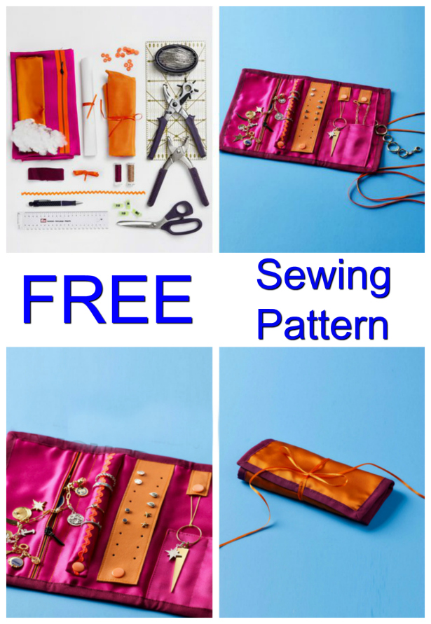 Getting everything organized in your life is not easy. That's why being able to download this FREE pdf pattern that keeps all your jewelry organized is awesome. This DIY Traveling Jewelry Roll means you'll have a place for all your jewelry whether at home or while traveling. This bright jewelry case is quick and easy to make and really fun and best of all the pattern is FREE.