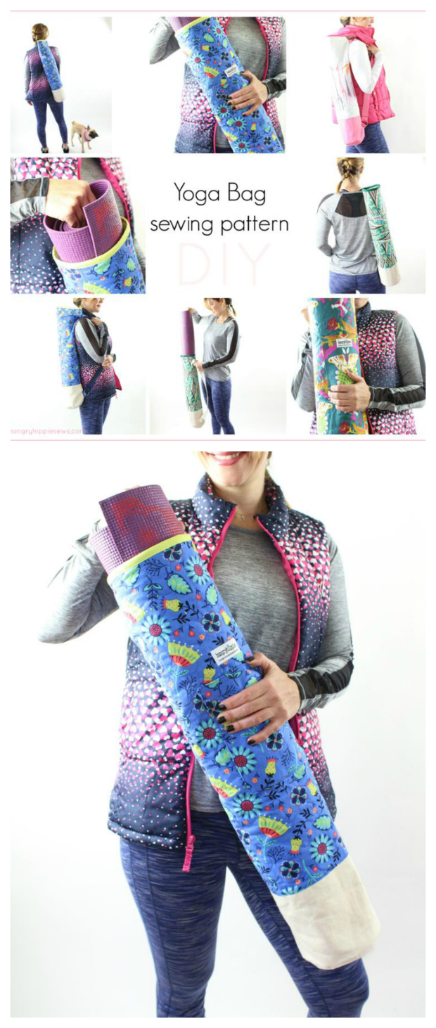 If you are into YOGA, or you know someone who is, then here is a FREE pattern for you to make a Yoga Bag to carry a yoga mat.