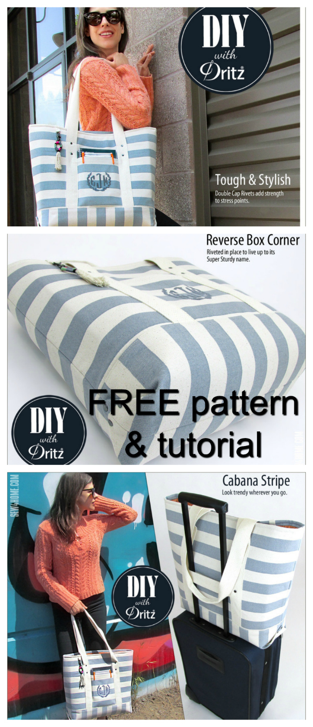 If you want to make yourself an awesome summer bag then you should download this FREE pdf pattern for the Super Sturdy Summer Tote.