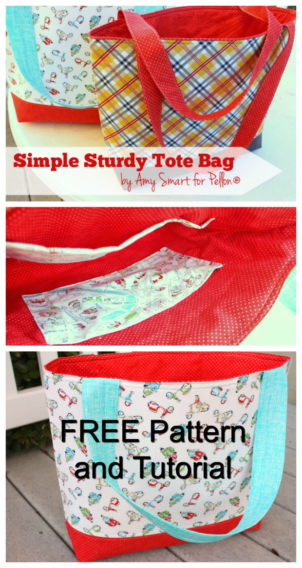 Here's yet another FREE pattern and tutorial that Sew Modern Bags has found for you. This one is an absolute beautiful tote bag called the Simple Sturdy Tote Bag.