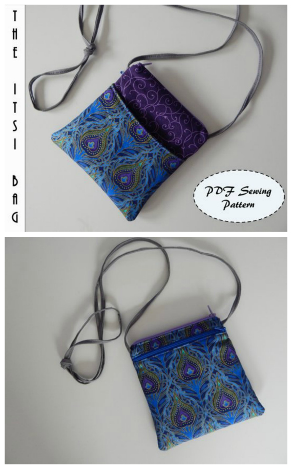 The ItsiBag was designed as a cross-body sling bag big enough just for your essentials. You can put your phone, keys, and cards in your Itsi bag and be right out the door! Itsi is a scrap buster - find the perfect fabric, or just use some from your stash. She is aimed at the advanced beginner to intermediate sewer and can be made in approximately 1-2 hours depending on your skill level.