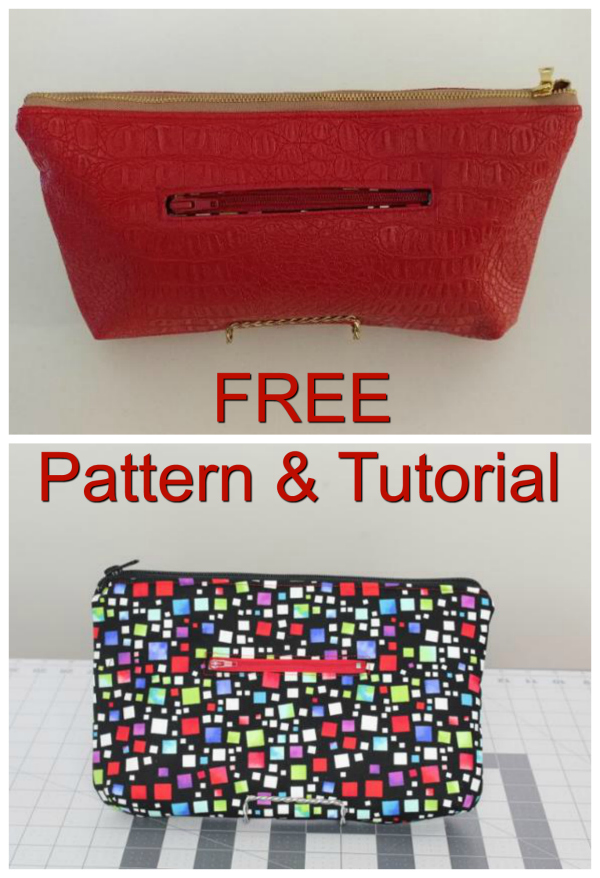 Sew Modern Bags likes to bring you good quality patterns and tutorials and if they are FREE then that is even better. Here we have another FREE one, this time it is the Angie Clutch. She has the following features - A front zipper pocket - An inside slip pocket - A top zipper - Darts to form the shape at the bottom.