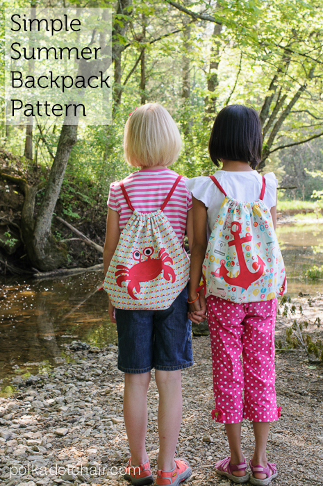With over 10 years of tutorials on her site, this designer produces really great patterns and tutorials. This time she has designed a super simple drawstring backpack which comes with a FREE tutorial and pattern. She has even included a FREE download for the applique shapes featured on the backpack. These drawstring backpacks are perfect for kids as they are simple, lightweight and large enough to carry around their essentials, whether they are out walking or riding on their bike.