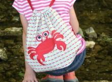 Kids summer beachy backpacki. Free sewing pattern