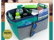 Today we have brought you an amazing Fabric Basket, with the added bonus that the pattern is FREE. This Divided and Structured Fabric Basket has both inner and outer pockets, double carry handles, a removable center divider and it makes a great caddy for the car or customize it for any room in the house.