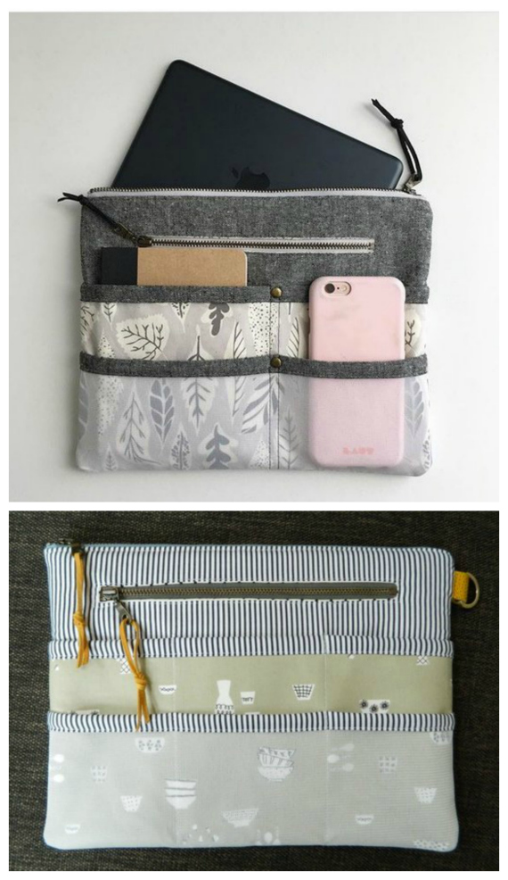 Here's your chance to create your own one of a kind completely customizable purse organizer (or tablet case) using this awesome pattern.