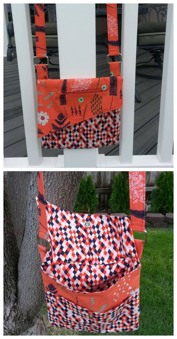 Here's a pattern where you decide whether to make a Clutch or a Cross Body Bag or both. The pattern that is designed for a beginner or intermediate sewer includes 2 sizes as well as instructions for adding optional pockets. The Handbag is fantastic as a cross body bag with stylish useful pockets, while the Clutch is the perfect size to take to a formal event or out on the town.