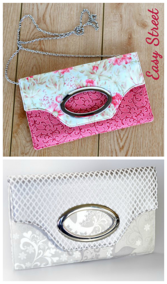Chloe's Court is a super cute, modern flat style clutch which is a quick and easy project to whip up in a day. It has 4 card slots and a slip pocket in the main zippered compartment. Plus another exterior slip pocket which closes with a magnetic snap which will hold an iPhone 6 Plus or a larger phone as well as other paraphernalia.