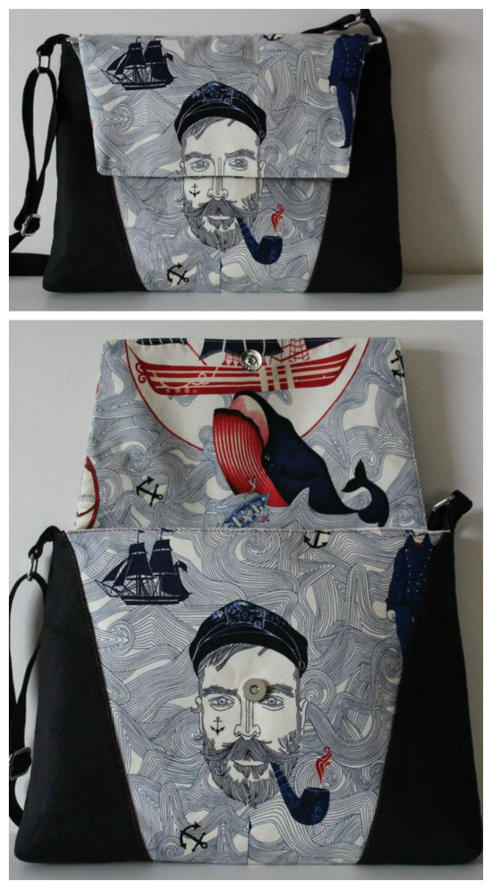 """The Luna Bag is a great sewing pattern for a beginner to intermediate sewer. And when you buy this pattern you get two patterns included as Luna can be made as an awesome everyday bag and as a laptop bag. Both bags have an adjustable strap, while the laptop bag fits a 13"""" laptop."""
