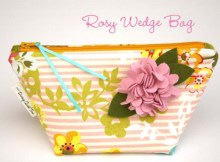 Sew Modern Bags are pleased to bring you yet another FREE pattern, this time it's the Rosy Wedge Bag. The Rosy Wedge Bag is a fully lined, wedge-shaped bag with a gusseted bottom that stands on its own and is designed to hold a lot of small cosmetics.