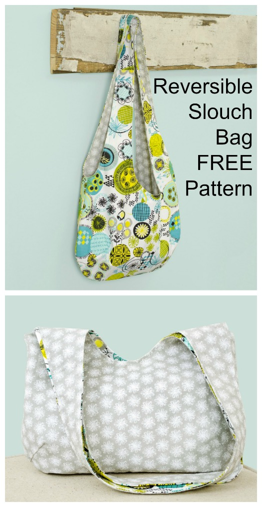 It's always a pleasure to bring our readers a FREE pattern and tutorial because we know a lot of you like FREE. Well here's one for this designer's Reversible Slouch Bag - a casual lightweight purse or shoulder bag. You get to choose two of your favorite pieces of fabric so that you can make a trendy slouch bag that is reversible.