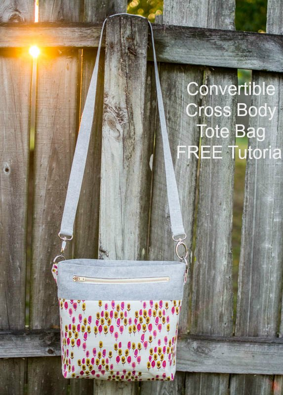 It's always great to have a Cross Body Tote Bag but when you can easily convert it into either then it is even better. This fabulous designer has designed the Convertible Cross Body Tote Bag and she has given us all the tutorial for FREE. Her project shows you how to make the bag both ways.
