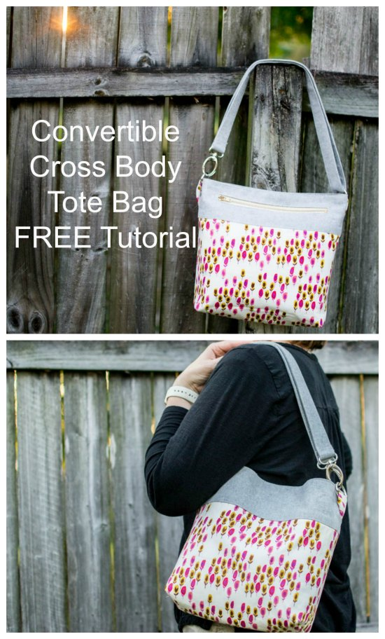 It's always great to have a Cross Body Tote Bag but when you can easily convert it into either then it is even better. This fabulous designer has designed the Convertible Cross Body Tote Bag and she has given us all the tutorial for FREE. Her project shows you how to make her bag both ways.