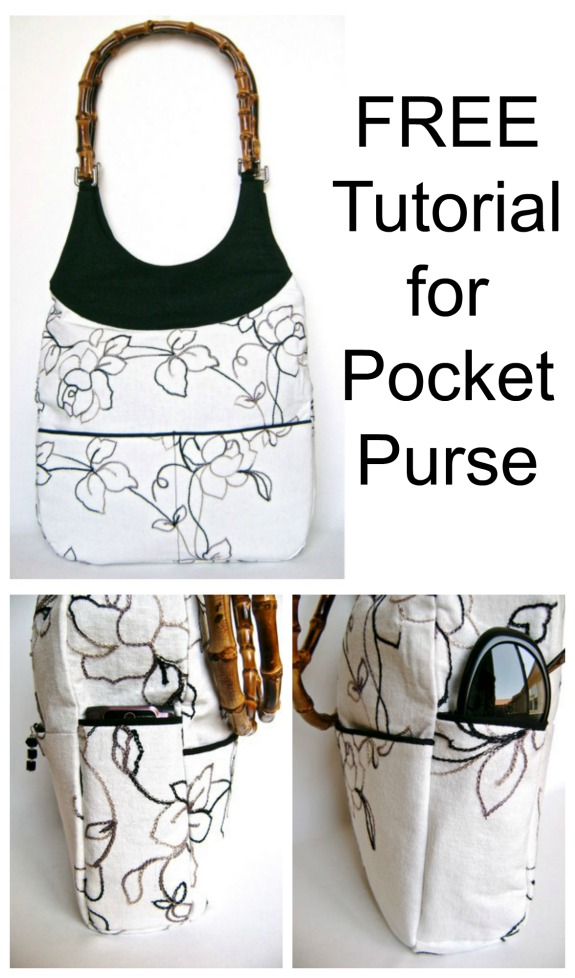 This designer makes absolutely fabulous looking bags and again the tutorial for this one is 100% FREE. She has called this bag her Pocket Purse and it's easy to work out why as she has included none other than 11 pockets in this purse. You really can never have enough pockets in a purse to help you stay organised.