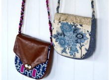The designer of the Emma Crossbody Bag describes her as a great little 'grab and run' bag when you don't need to take a lot of stuff with. The level of difficulty is basic and she's a great weekend project where you can even use up some of those leftovers in your stash.