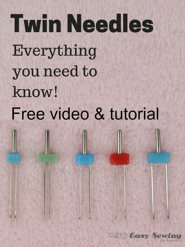 We really love easysewingforbeginners.com. The owner Domenica is such a talented sewer and her videos are clear, concise and always receive fabulous feedback. In this article Domenica shows us all how to use a twin needle or double needle on your sewing machine.