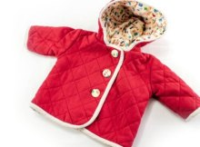 Quilted baby jacket sewing pattern
