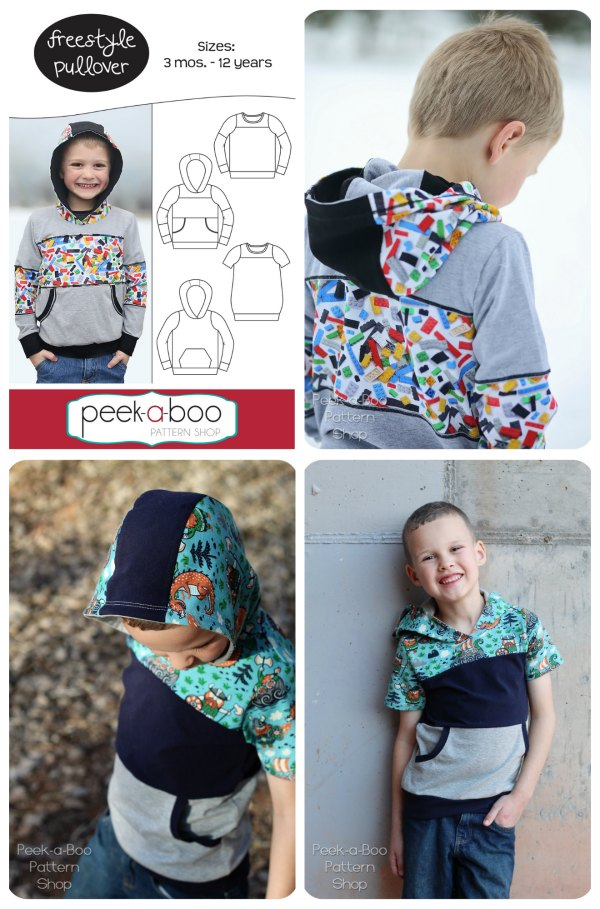 Here's a really popular downloadable pattern for the unisex Freestyle Pullover. If you want to use up all of your favorite scraps and make a one-of-a-kind pullover then this is the perfect pattern for you. You can see from the great photo's that this designer has produced that this pattern can be made in many different ways.