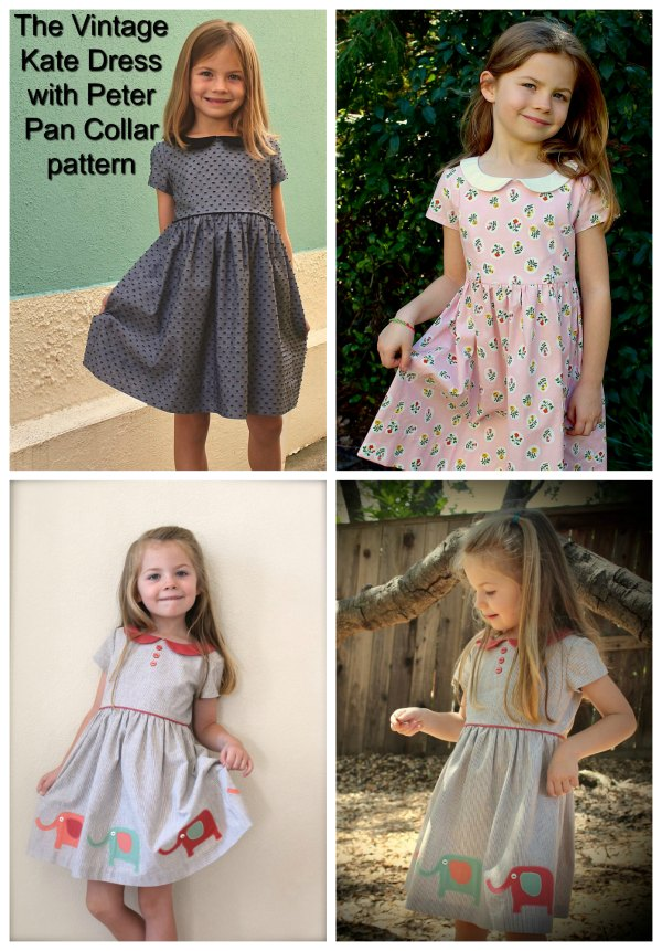 The designer has named this dress The Vintage Kate Dress. This absolute classic style of dress has a vintage look that is topped off by the addition of an adorable Peter Pan collar.