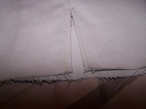 Sew Edges of Slit