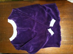 shirt from juicy velour in eggplant footie pajamas