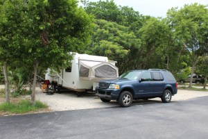 Our campsite at John Pennekamp State Park.