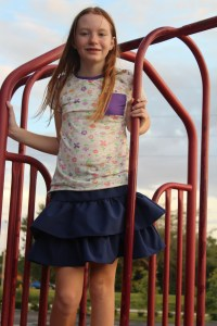 Shortie leggings are perfect for the playground.