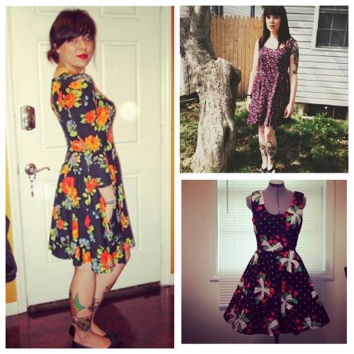 So many dresses.