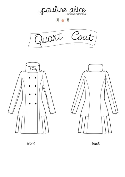 Pauline Alice Quart Coat-every year I make a coat (2015's is awaiting photos!), next year will be with this one. In navy wool?