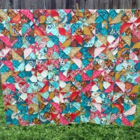 My Finished Shattered Stained Glass Quilt Top!