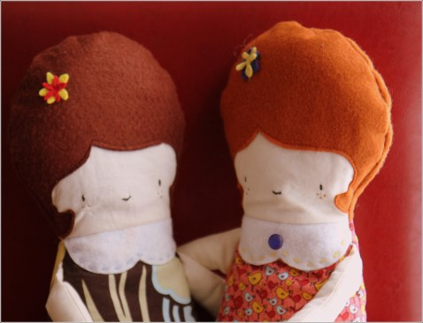 2 Girl Dolls for Sewn In Vermont©