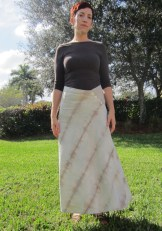 Flared Wave Cabbage Dyed Skirt