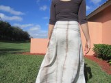 Naturally Dyed Flared Wave Skirt at Sew Pomona