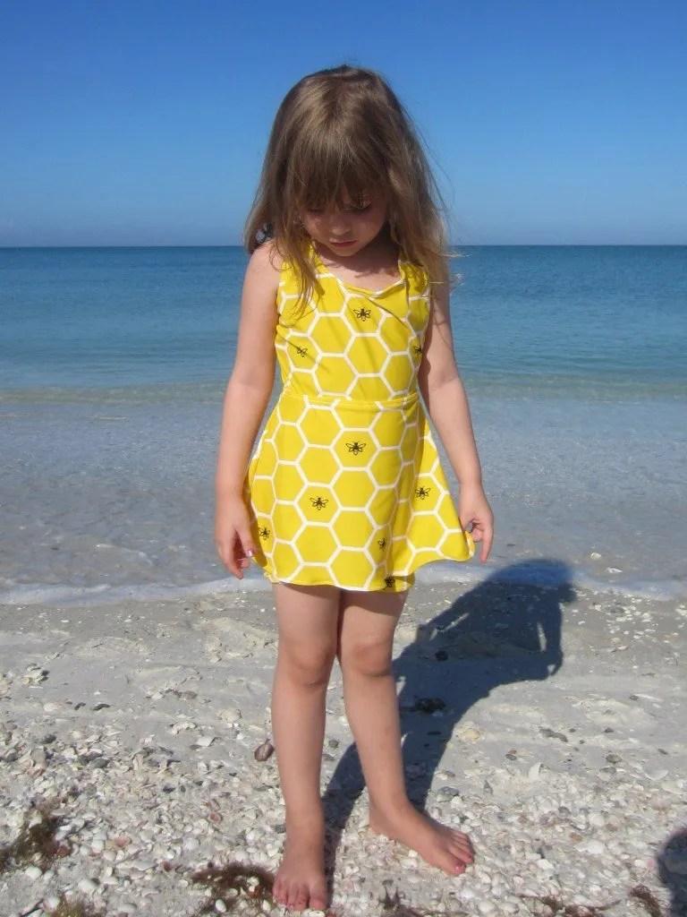 Flora Skirted Swimsuit, Sew Pomona