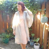 Naturally Dyed Robe and Bias Slip