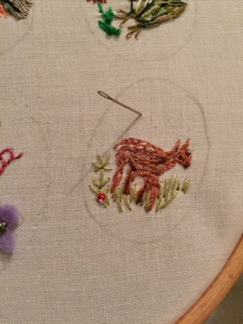 Embroidered my deer doe