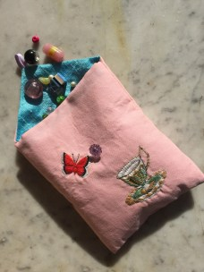 Time for Tea Silk embroidered bag 1