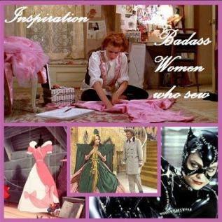 Day ten: inspiration. Before I discovered sewing blogs which tend to be my inspiration to sew these days, I loved watching movies where there was a sewing: Pretty in Pink (my sewing blog inspiration), Cinderella, Gone with the Wind (heheh... Carol Burnett pictured making fun of the curtain dress), Batman Returns (Cat Woman making her costume), etc. So many great movies where badass woman make their costumes or ball dresses. That's my inspiration. #bpsewvember #badasswomenwhosew