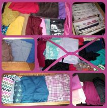 Day 3: stash, one shelf, one large suitcase, two drawers plus one drawer of patterns. Not included: several pdf patterns. Verdict: I have a problem. #bpsewvember