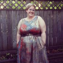 Day 27: Best make. Definitely my gold @colettepatterns Moneta. Love this dress and am super proud of it. The second runner up is my kitty chronicle dress. :) #bpsewvember #thispicturemakesmemisssummer