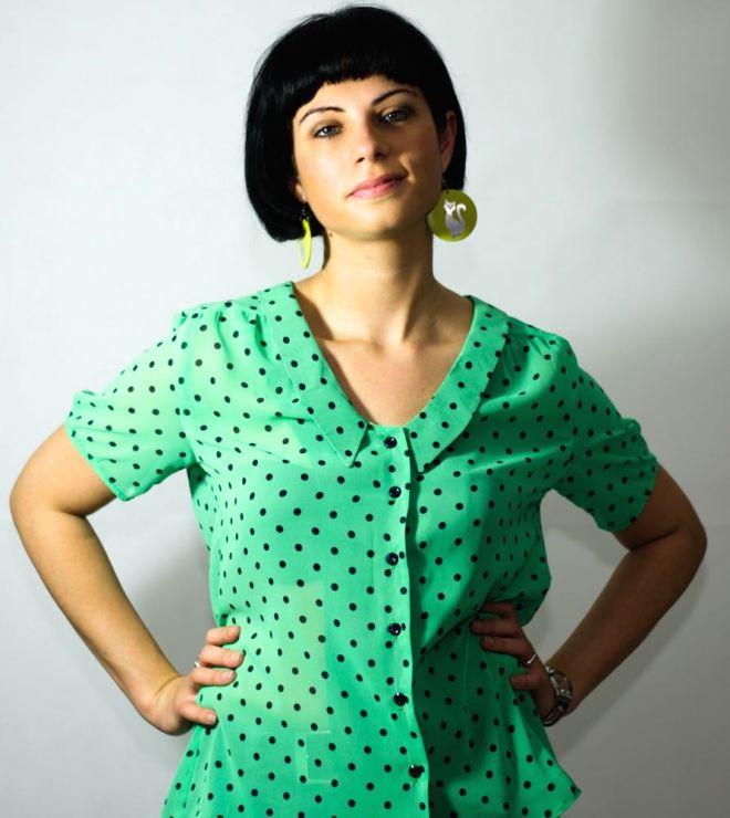 Polka dot Mimi blouse