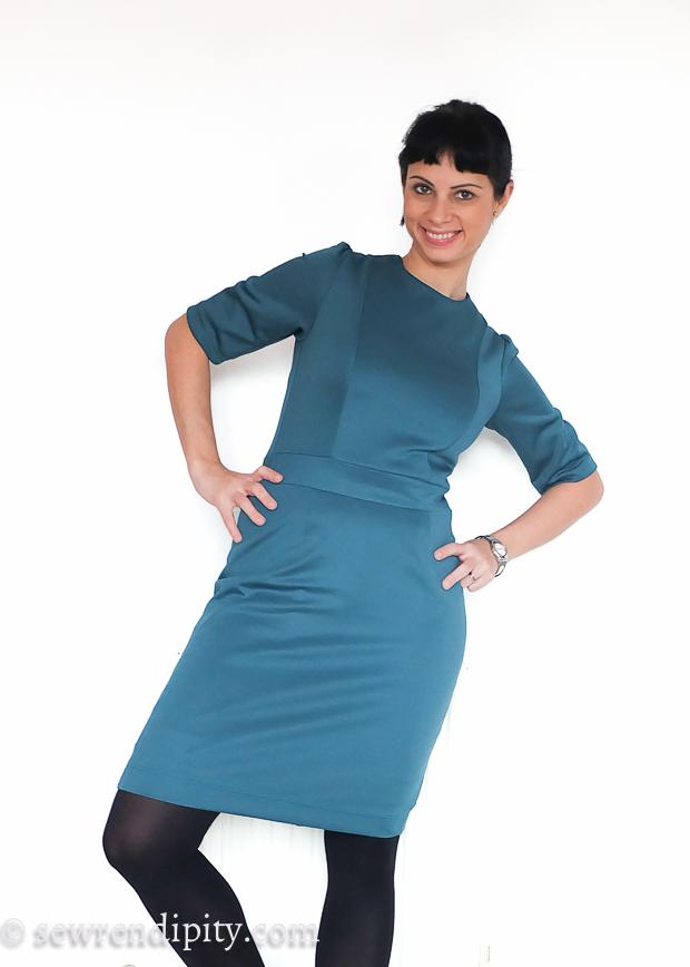 Teal Scuba Sheath Dress