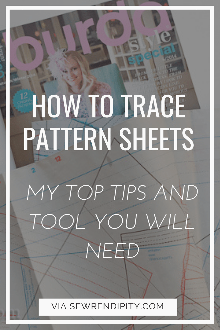 How to trace pattern sheets like Burda Magazine, Ottobre, La Maison Victor