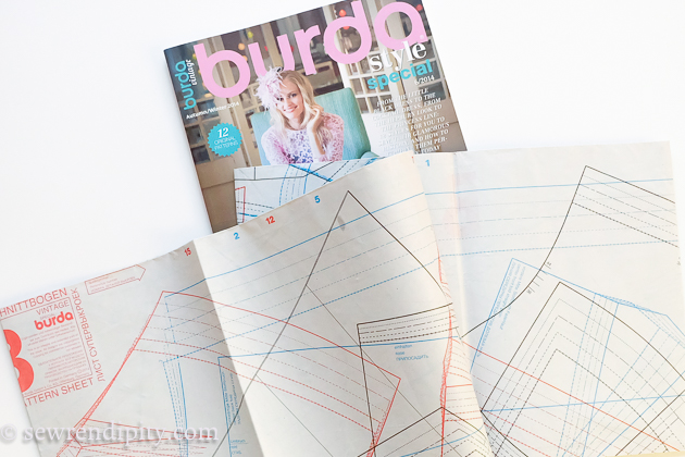 HOW TO TRACE Burda Magazine patterns