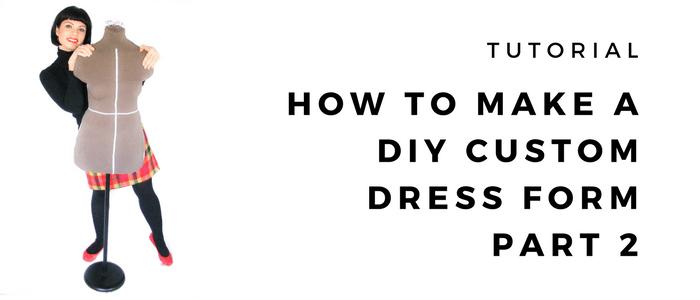 How to make a DIY plaster cast custom dress form – Part 2: Filling the mould