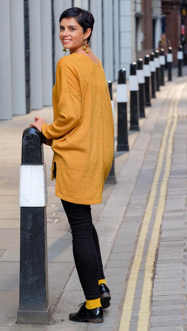 Oversize V-Neck Sweater Burda Style 12-2015 #118A-2-2