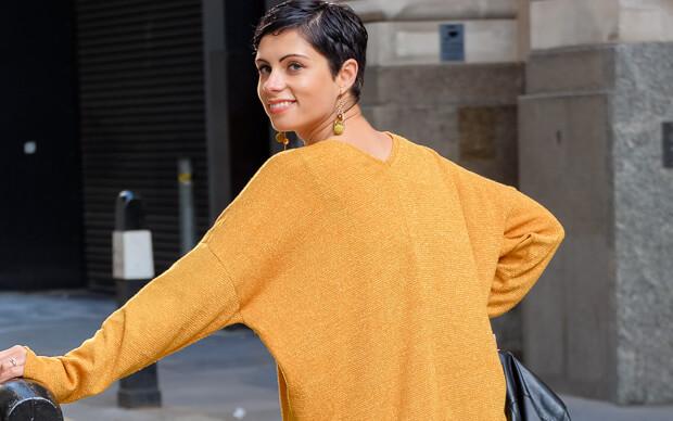 Oversize V-Neck Sweater Burda Style 12-2015 #118A-2-3