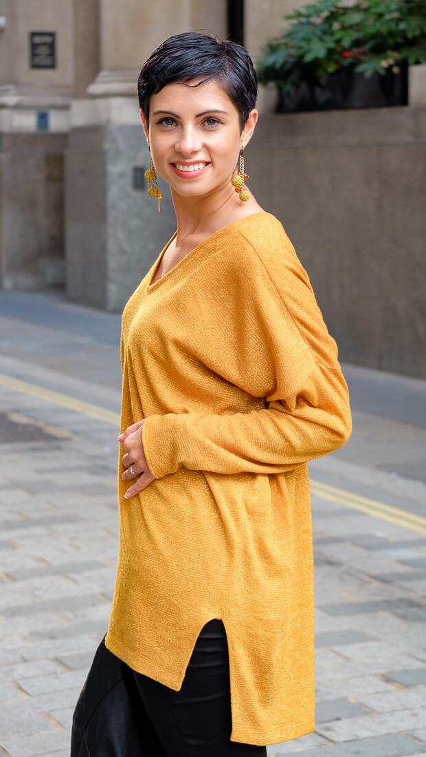 Oversize V-Neck Sweater Burda Style 12-2015 #118A-3-2